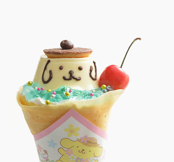 Sanrio Character Crepes Purin - Cute Food