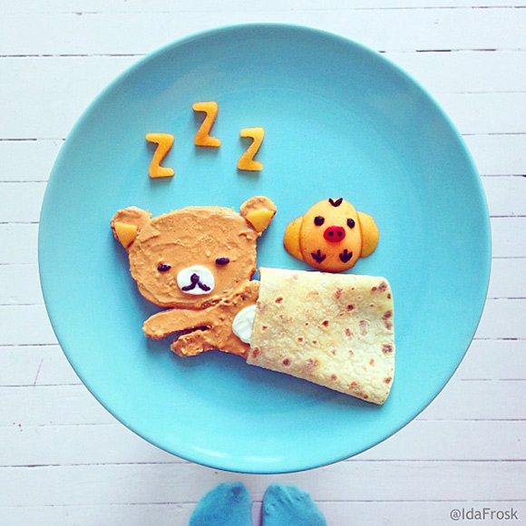 Cute Food Art Ida Frosk - Rilakkuma