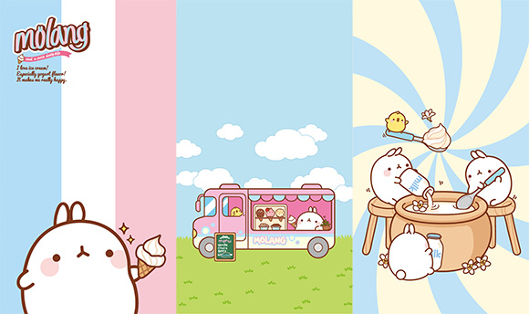 Cute Molang iPhone Mobile Phone Wallpaper