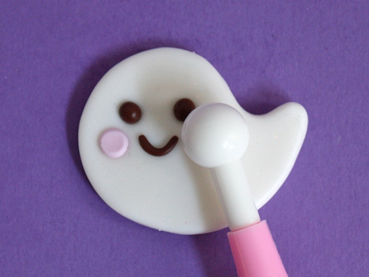 Kawaii Ghost Clay Charm DIY - Step 6