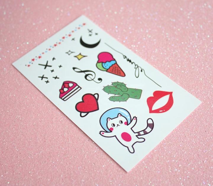 kawaii box japan march 2017 - harajuku tattoos