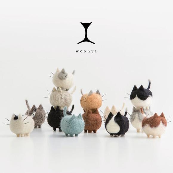 Woonya: Adorable Wool Felt Kitties